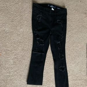 ripped black skinny jeans high waisted